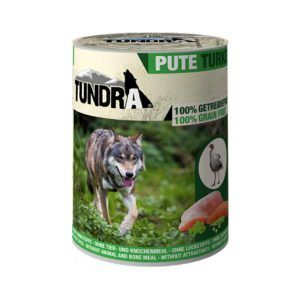 Comida húmeda Tudra latas perro con Pavo